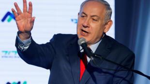 """بنیامین نتانیاهو، نخستوزیر اسرائیل، در سخنرانی  پنجشنبه ٣۰ آذر/ ٢١ دسامبر ٢٠۱٧ که در مرکز پزشکی """"Assuta"""" ایراد کرد، سازمان ملل متحد را """"خانه دروغ"""" خواند."""