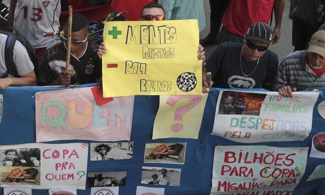 Protesto em São Paulo no dia 14 de junho.