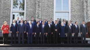 The 28 EU leaders in Tallinn, Estonia on September 29, 2017.