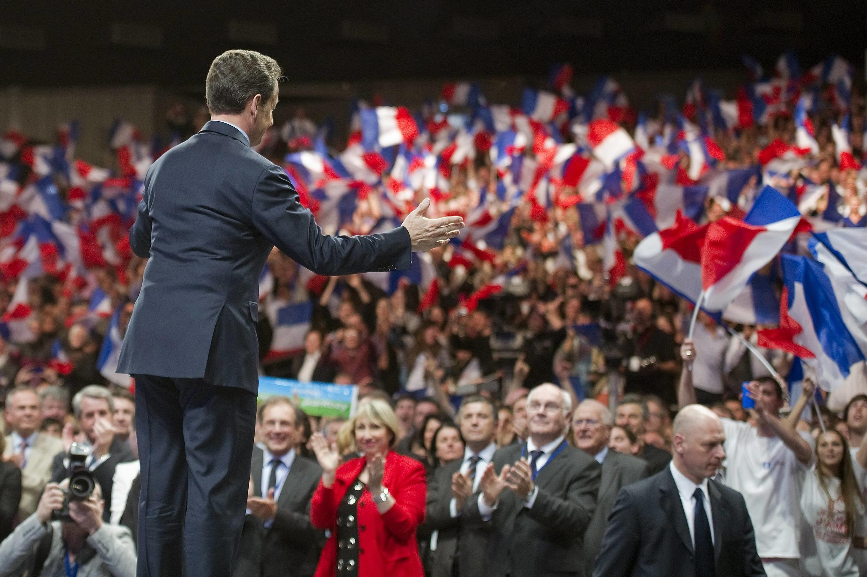 На скамью подсудимых в 2021 году Николя Саркози привели нарушения, допущенные во время предвыборной кампании-2012. На фото: митинг Саркози в городе Нанси. 02.04.2012.