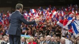 Nancy, 2 avril 2012. Nicolas Sarkozy en campagne.