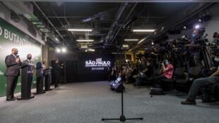 Jornalistas Brasil Covid Butantan