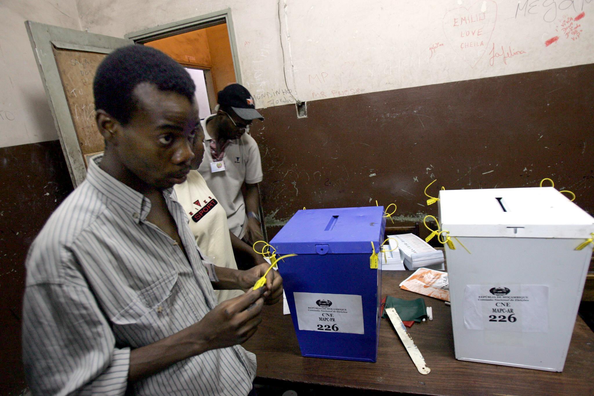 Eleições em Moçambique. Imagem de arquivo.