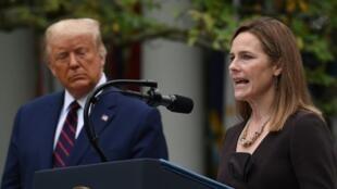 美國總統特朗普提名巴瑞特(Amy Coney Barrett)擔任聯邦最高法院大法官。