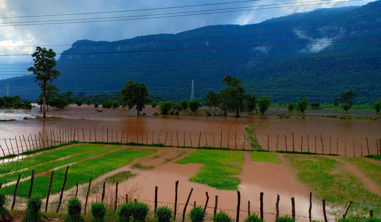 Một khu vực ở tỉnh Attapeu, Lào, bị nước nhấn chìm sau khi đập Xe-Pian Xe-Namnoy bị vỡ, ngày 24/07/2018.