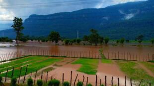 Vue d'une des parties sinistrées par l'effondrement du barrage, dans la province d'Attapeu, au Laos, le 24 juillet 2018.