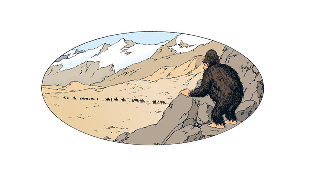 Le yéti de la bande dessinée «Tintin au Tibet» 1960.