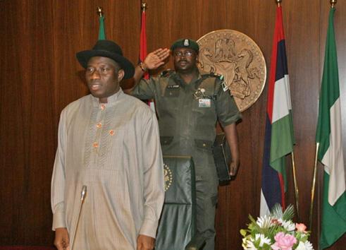 Le vice-président  nigérian, Goodluck Jonathan, nommé président par intérim ; Abuja, le 10 février  2010.