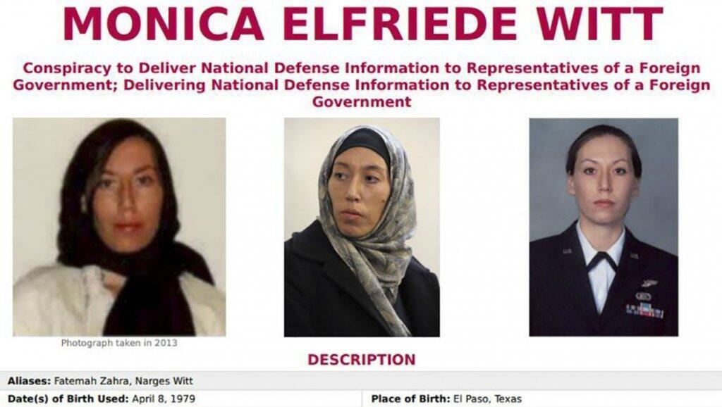 اف بی آی حکم جلب بین المللی مونیکا ویت، افسر سابق ضد اطلاعات نیروی هوایی آمریکا، را به اتهام شرکت در عملیات جاسوسی سایبری جمهوری اسلامی ایران صادر کرد.