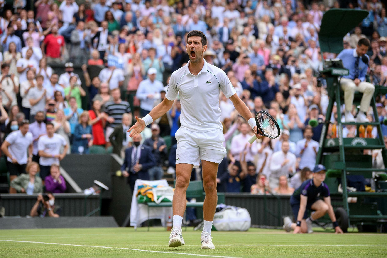 Champion performance: Novak Djokovic celebrates winning against Canada's Denis Shapovalov