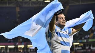 Le pilier de l'Argentine Marcos Ayerza après la victoire face à l'Irlande en quarts de finale de la Coupe du monde de rugby, le 18 octobre 2015, à Cardiff.
