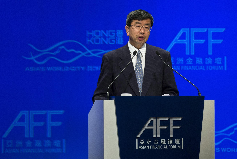 Chủ tịch ADB Takehiko Nakao phát biểu tại Diễn đàn Tài chính Châu Á, Hồng Kông, 13/01/2014