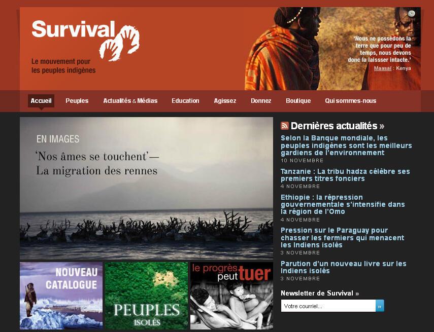 L'ONG Survival International se bat pour les peuples indigènes à travers le monde