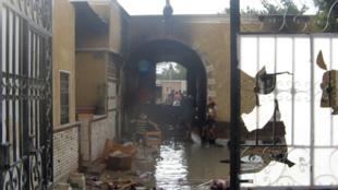 La prison d'Abu Zabal, au nord du Caire, après les évasions en masse de prisonniers le 30 janvier 2011