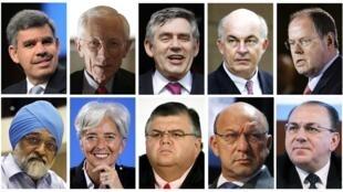 Montage photo des successeurs potentiels de DSK à la tête du FMI, dont la Française Christine Lagarde.