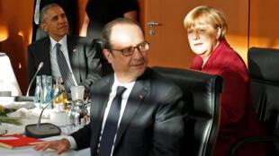 Президент США Барак Обама на встрече с лидерами Евросоюза в Берлине, 18 ноября 2016 г.