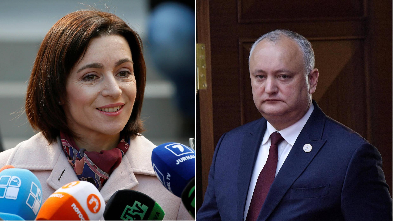 Le second tour de l'élection présidentielle en Moldavie, le dimanche 15 novembre 2020, opposera Maia Sandu, l'ancienne Première ministre, et Igor Dodon, le président sortant.