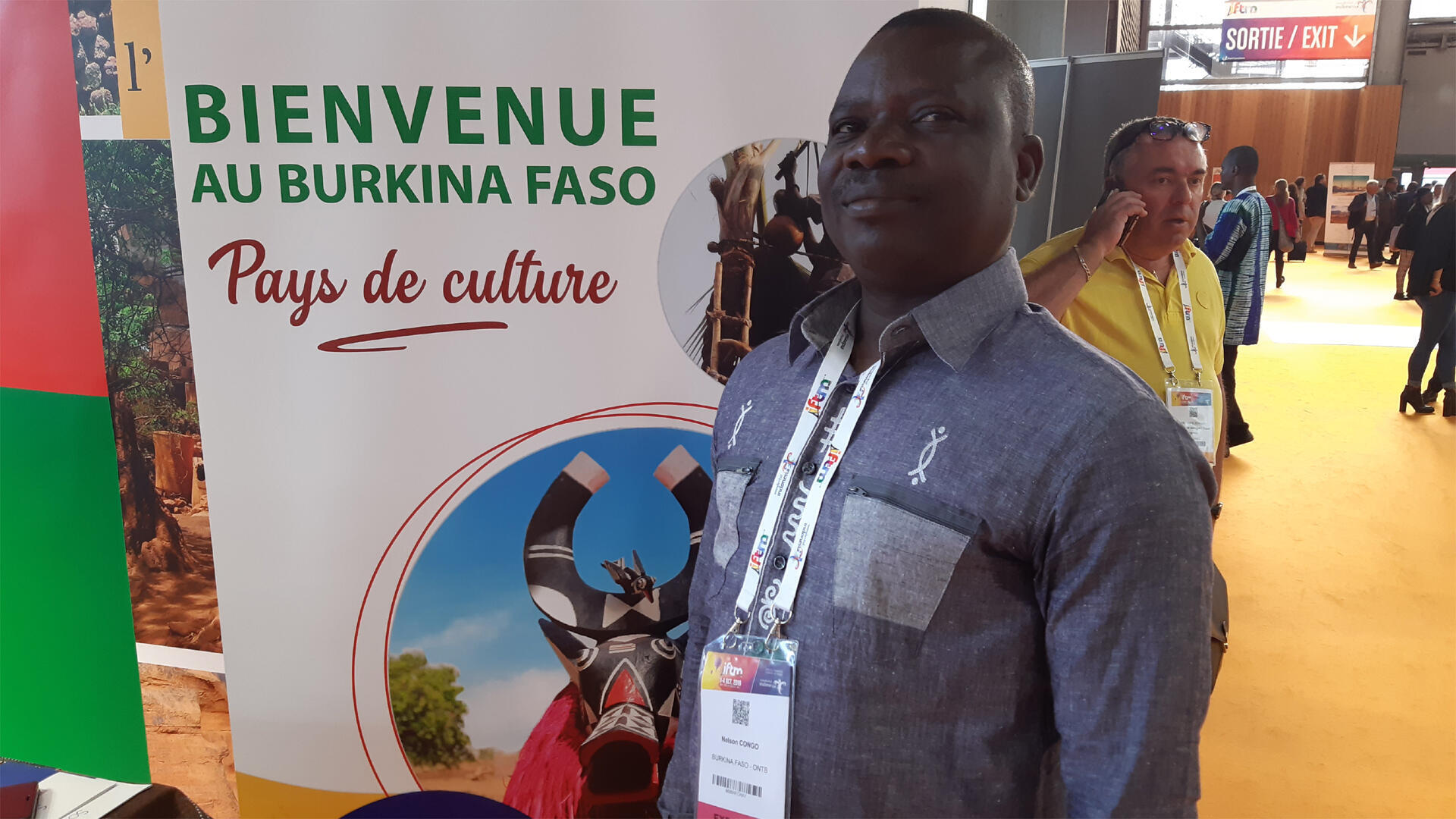 Nelson Congo, directeur général de l'Office National du Tourisme du Burkina Faso.