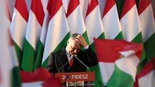 Le Premier ministre hongrois Viktor Orban, le 6 avril 2018.
