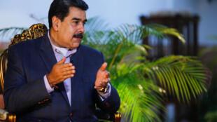El presidente venezolano Nicolas Maduro en una entrevista en Caracas el 23 de agosto de 2020