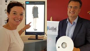 « Gabrielle Chou, CEO d'Allure Systems et Frédéric Granotier, président fondateur de Lucibel. »