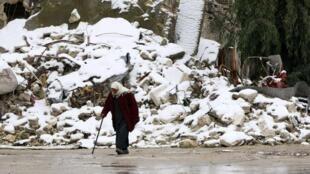 叙利亚战争的废墟