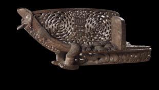 Prow of a Maori waka, or war canoe