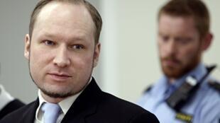 Anders Behring Breivik durante su juicio, el 16 de mayo de 2012.