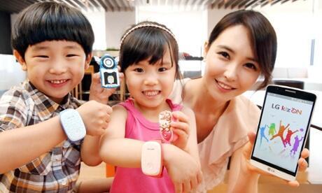 Le groupe sud-coréen LG commercialise des smartmontres, connectées à internet et avec GPS intégré, qui permettnt de suivre ses enfants à la trace. (Capture d'écran).