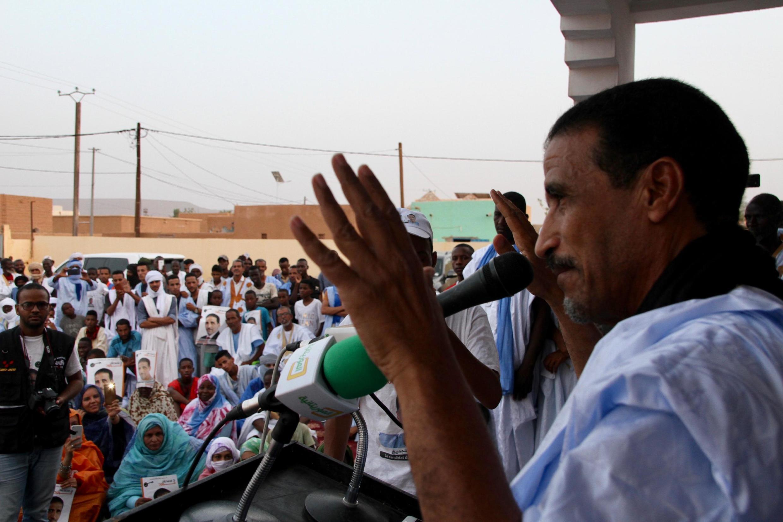 L'opposant Mohamed Ould Maouloud, à Atar, le 10 juin 2019 (image d'illustration). Des dissidents l'accusent accusent d'avoir liquidé la base électorale de l'UFP.