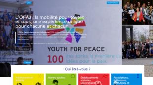 Page d'accueil de l'Office franco-allemand pour la jeunesse.