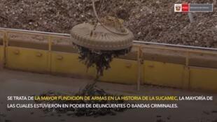 Las armas ilegales hacían un peso de once toneladas en total. Es la mayor destrucción de armas decomisadas en la historia