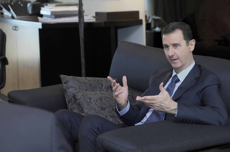 Башар Асад в Дамаске 26/08/2013