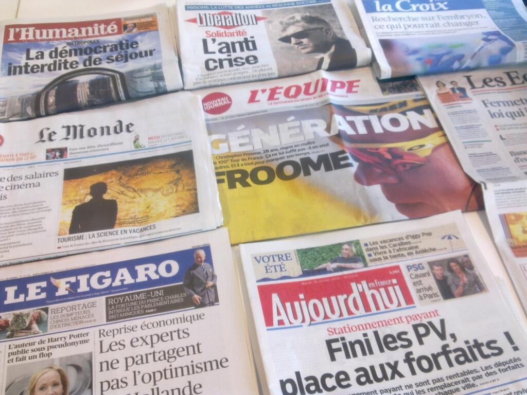 Diários franceses  16/07/2013
