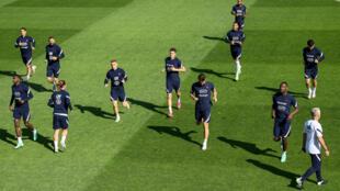 L'équipe de France lors d'une séance d'entraînement au centre de Clairefontaine, le 5 juin 2021 à trois jours du match contre la Bulgarie