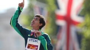 Caio Bonfim competiu na marcha atlética de 20 km em Doha.