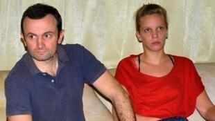 Thomas Dandois and  Valentine Bourrat at Jayapura, 4 September 2014.