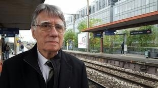 L'historien et spécialiste des chemins de fer Clive Lamming, «père» de cette nouvelle ligne de chemin de fer.