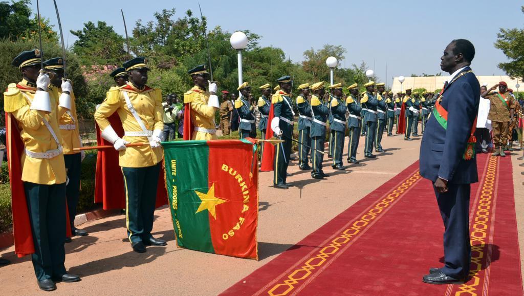 Le président burkinabè, Michel Kafando, lors de sa prestation de serment à Ouagadougou, le 18 novembre 2014.
