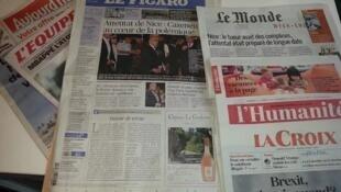 Primeiras páginas dos jornais franceses de 28 de julho de 2016