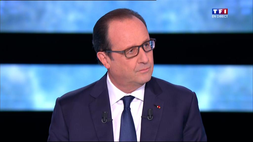 O presidente François Hollande durante uma entrevista na televisão em 6 de novembro de 2014.