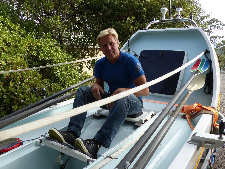 Uma dupla sul-africana decidiu inovar a regata Cape to Rio, sai da Cidade do Cabo, na África do Sul, para o Rio de Janeiro: Braam Malherbe(foto) e Peter Van Kets farão todo o percurso  remando.