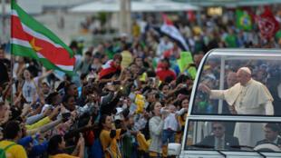 Le pape François, lors des JMJ à Rio, en 2013.