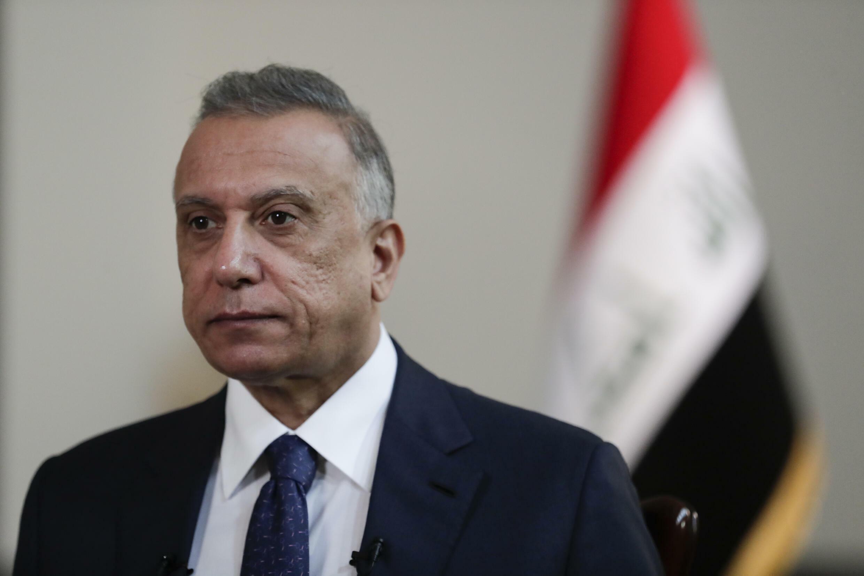 Thủ tướng Irak Mustafa al-Kadhimi trả lời phỏng vấn hãng tin Mỹ AP tại văn phòng của ông ở Bagdad, Irak, ngày 23/07/2021.