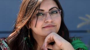 Gulalai Ismail, militante pakistanaise des droits humains a fui en septembre aux États-Unis.