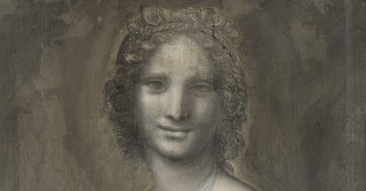 孔代美術博物館珍藏的炭筆素描:蒙娜瓦娜(Monna Vanna)