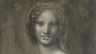 孔代美术博物馆珍藏的炭笔素描:蒙娜瓦娜(Monna Vanna)