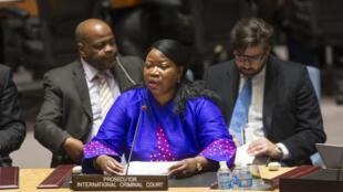 Babbar mai gabatar da kara ta kotun hukunta manyan laifuka ta duniya ICC Fatou-Bensouda.
