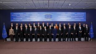 Лидеры Европы на саммите в Брюсселе, 18 октября 2012 года
