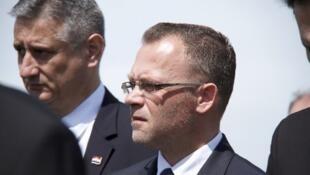 Le ministre croate de la culture révisionniste Zlatko Hasanbegovic, lors des commémorations officielles de Jasenovac.